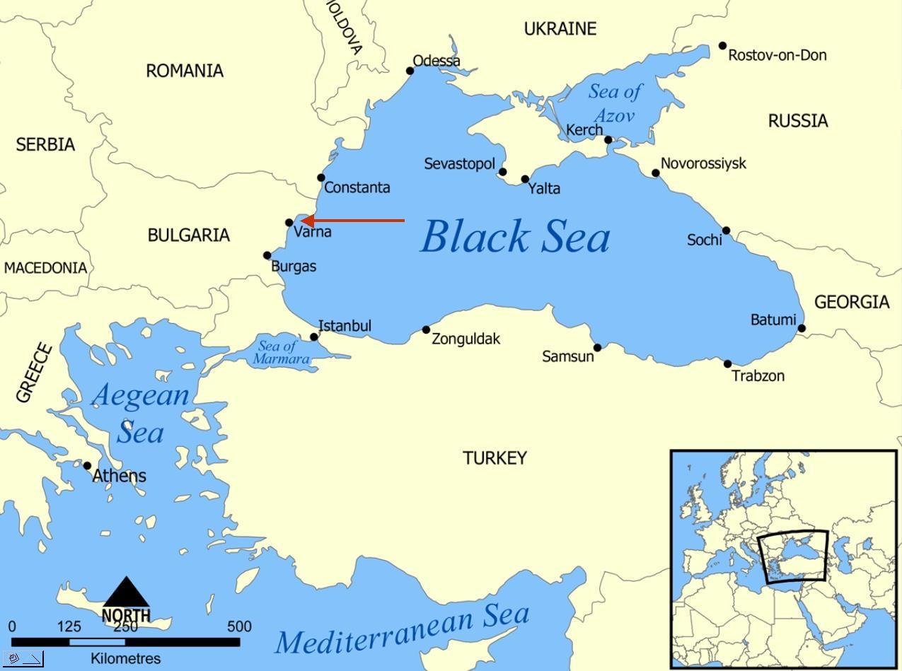 bulgarien varna karte Varna Karte von Bulgarien   Bulgarien varna Karte (Osteuropa   Europa)