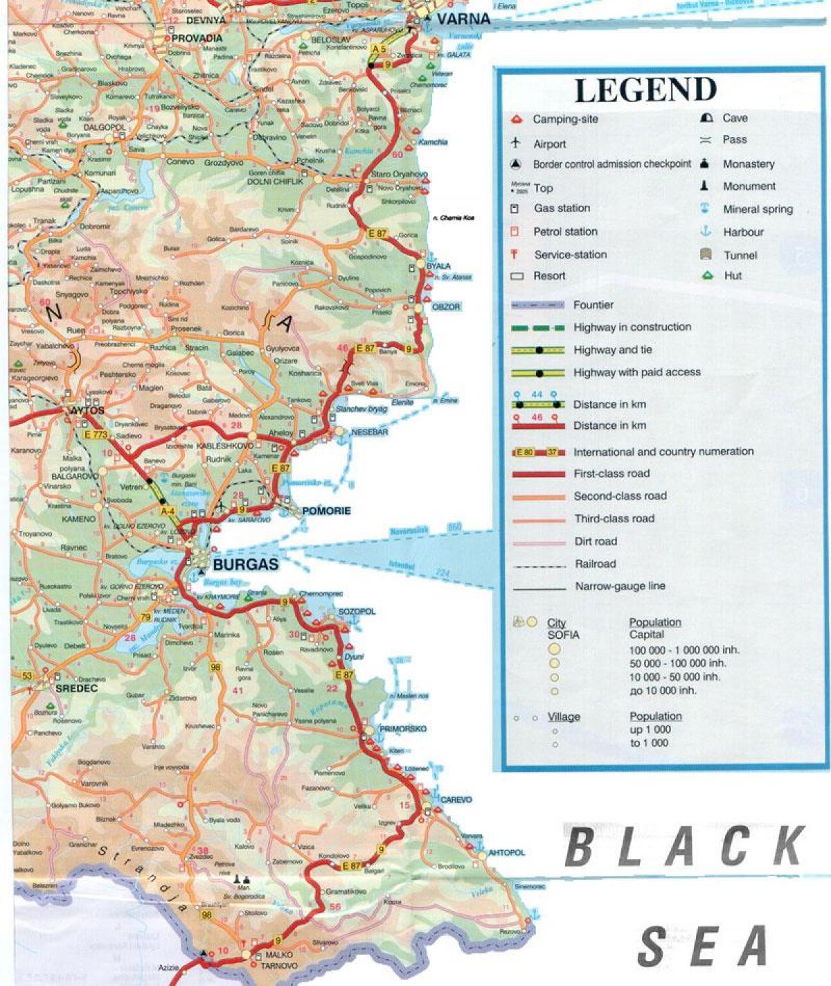 Bulgarien Schwarzes Meer Anzeigen Bulgarischen Schwarzmeer Kuste